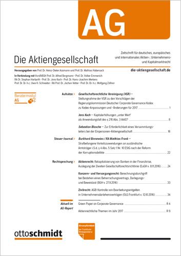 AG - Die Aktiengesellschaft