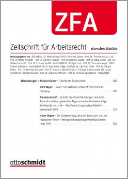 ZFA - Zeitschrift für Arbeitsrecht