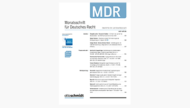 Monatsschrift für Deutsches Recht - MDR