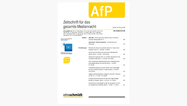 AfP - Zeitschrift für das gesamte Medienrecht